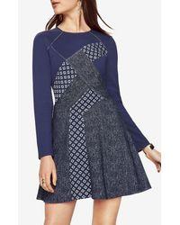 BCBGMAXAZRIA | Blue Melis Patchwork Dress | Lyst