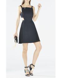 BCBGMAXAZRIA | Black Brielle Open-back Side-pleated Dress | Lyst