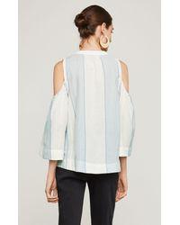 BCBGMAXAZRIA - Multicolor Bcbg Elin Cold-shoulder Striped Top - Lyst