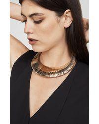 BCBGMAXAZRIA - Metallic Wrapped Metal Collar Necklace - Lyst