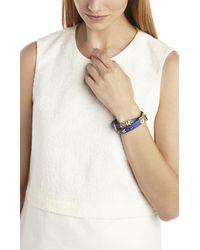 BCBGMAXAZRIA - Blue Icon-studded Wrap Bracelet - Lyst