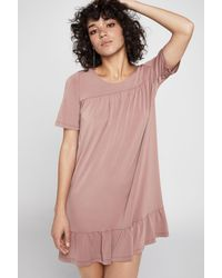 BCBGeneration - Pink Short-sleeve Tent Dress - Lyst