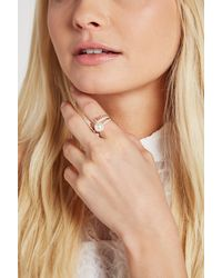 BCBGeneration - Metallic Faux-pearl Spike Pave Ring - Lyst