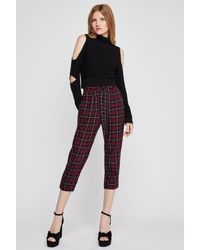 BCBGeneration - Black Cropped Cutout Turtleneck Sweater - Lyst