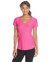 Under Armour | Pink Perfect Pace Top | Lyst