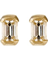 Tate | Metallic Women's Rectangular Stud Earrings | Lyst