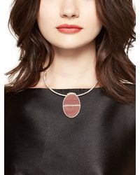 kate spade new york - Pink Sugarcoated Stone Collar Necklace - Lyst