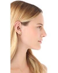 Gorjana - Metallic Friendship Heart Stud Earrings - Gold - Lyst