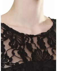 Ganni - Black Pin-Up Lace Dress - Lyst