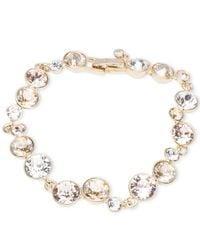 Givenchy | Metallic Gold-tone Crystal Bracelet | Lyst