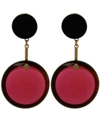 Marni | Purple Red Resin Sphere Earrings | Lyst