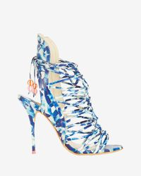 Sophia Webster | Blue Lacey Oceana Beaded Beachball Lace Up Sandal | Lyst