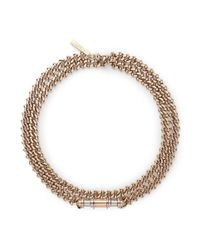 Givenchy | Metallic 'obsedia' Bar Curb Chain Collar Necklace | Lyst