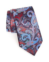 Ermenegildo Zegna - Multicolor 'quindici' Paisley Silk Tie for Men - Lyst