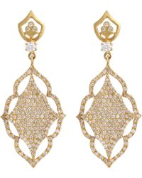 Sara Weinstock | Metallic Diamond & Gold Laura Earrings | Lyst