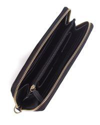 MICHAEL Michael Kors | Black Jet Set Large Smartphone Wallet | Lyst