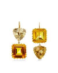 Renee Lewis - Metallic 18K Yellow Gold Citrine And Topaz Earrings - Lyst
