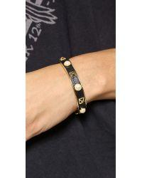 Rebecca Minkoff - Metallic Pyramid Stud Cuff Bracelet Goldblack - Lyst