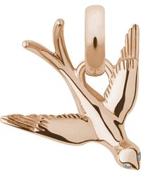 Links of London | Metallic As Free As A Bird 18-carat Gold And Diamond Charm | Lyst