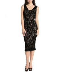 Dress the Population | Black Carole Sequined-Lace Sheath Dress | Lyst