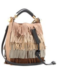 Chloé - Natural Gala Small Fringed Suede Shoulder Bag - Lyst
