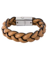 Valentino - Brown Braided Bracelet for Men - Lyst