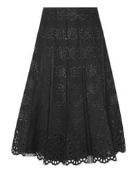 Marc Jacobs | - Pleated Tulle And Broderie Anglaise Cotton Skirt - Black | Lyst