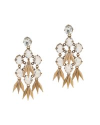 J.Crew | Metallic Jeweled Quill Earrings | Lyst