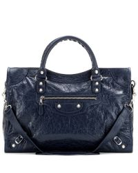 Balenciaga - Blue Giant 12 City Leather Tote - Lyst