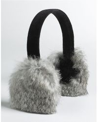 Surell | Multicolor Real Rabbit Fur Earmuffs | Lyst