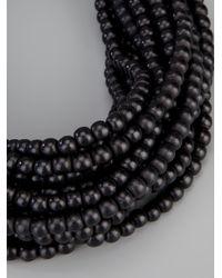 Monies - Black Large Necklace - Lyst