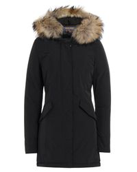 Woolrich - Luxury Arctic Down Parka With Fur-trimmed Hood - Black - Lyst