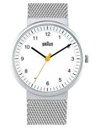 Braun - Metallic 'classic' Strap Watch - Lyst