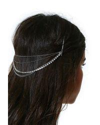 Nasty Gal - Metallic Alexia Hairpiece - Lyst