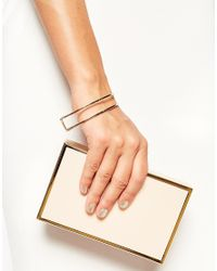 ASOS | Metallic Open Half Circle Bangle Bracelet | Lyst
