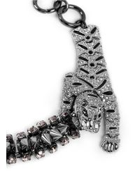 Venna - Metallic Crystal Tiger And Spike Bracelet - Lyst