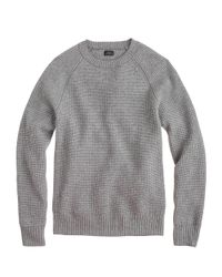 J.Crew - Gray Italian Cashmere Waffle-knit Sweater for Men - Lyst