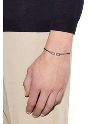 Zadeh | Gray Alexander Parachute-Cord And Rose-Gold Bracelet for Men | Lyst