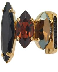 Iosselliani | Metallic Goldtone Smoky Gemstone Ring | Lyst