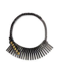 Iosselliani | Gray Asymmetric Marquise Cut Crystal Choker Necklace | Lyst
