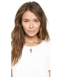 Vanessa Mooney | Metallic The Fatima Pendant Necklace - Sapphire | Lyst