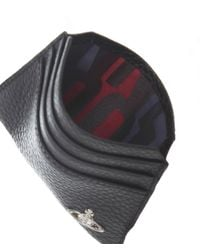 Vivienne Westwood | Black Leather Grain Orb Card Holder for Men | Lyst