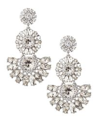 kate spade new york - Metallic Estate Garden Earrings White - Lyst