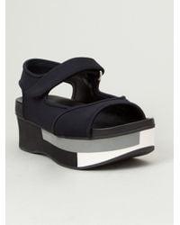 Marni - Black Colour Block Platform Sandals - Lyst