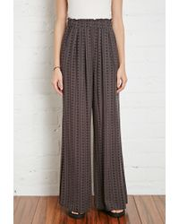 Forever 21 - Gray Diamond Print Pants You've Been Added To The Waitlist - Lyst