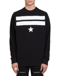 Givenchy | Black Single Star Sweatshirt for Men | Lyst