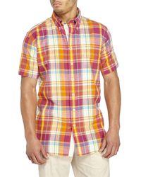 Mine - Multicolor Madras Button-Down Shirt for Men - Lyst