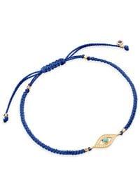 Astley Clarke | Blue Evil Eye Skinny Biography Bracelet | Lyst