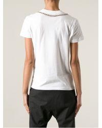 Alexander McQueen - White Bead Embellished T-Shirt - Lyst