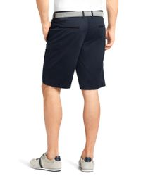 "BOSS Green | Blue ""regular Fit Shorts 'liem1-w' In Cotton Blend\"" for Men 